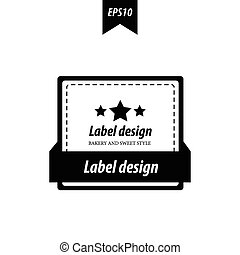 label design black and white