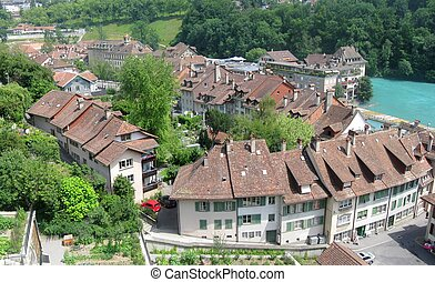 Bern, Switzerland in an aerial photo