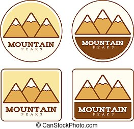 Mountain Icon Designs - Icon designs and illustrations with...