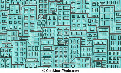 Seamless houses pattern