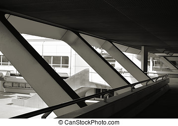 ICC in Berlin - bridge over the Messedamm at the...