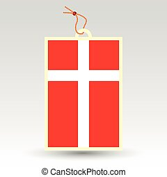 vector simple danish price tag - symbol of made in denmark -...