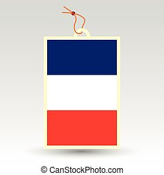 vector simple french price tag - symbol of made in france -...