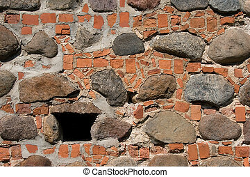small window in a stone wall