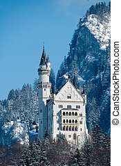 the castle of Neuschwanstein, Fuessen, Gerrmany - The famous...