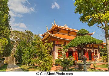Monastery architecture Vietnam. - Thien Vien Truc Lam...