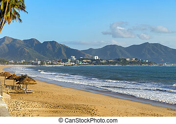 beach in Nha Trang on Vietnam
