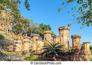 Brick Cham old towers in Nha Trang, Vietnam - Old Brick cham...