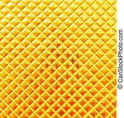 Golden mosaic abstract background