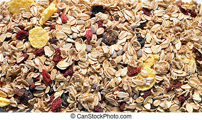 musli and seeds texture natural healthy food pattern