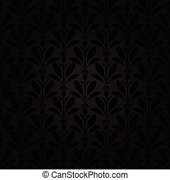 Dark background Thistle flowers pattern seamless - Vector...