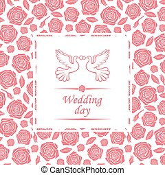 Wedding day card - Vector illustrations of Wedding day card...