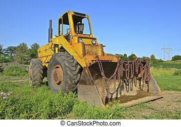 Old excavating machine - An old excavating machine is left...