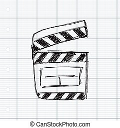 Rough sketch of a clap board