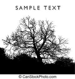 A magnificent vector tree with background  space for text
