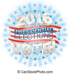 2016 presidential election in usa vector