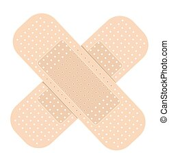 adhesive bandage on white