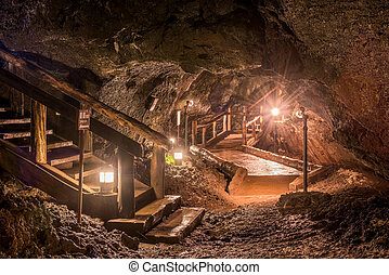 Cave of Mt Fuji - Lake Sai Bat Caves interior in...