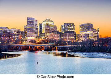 Rosslyn Skyline - Rosslyn, Arlington, Virginia, USA skyline...