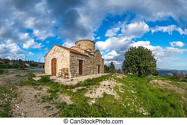 Country Church of Archangel Michael in Kato Lefkara Cyprus -...