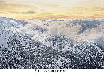 Cloud and sun in Kasprowy Wierch in Zakopane in Tatras in...
