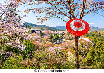 yoshinoyama, nara, japan - Yoshinoyama, Nara, Japan during...