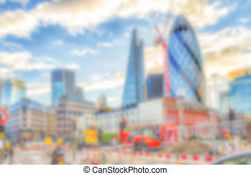 Defocused Background of the London Skyline. Intentionally...