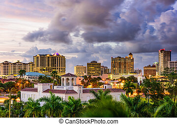 Sarasota, Florida, USA downtown skyline