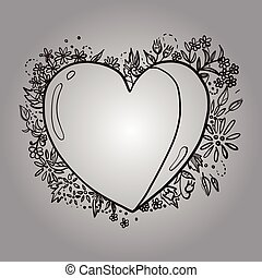 Abstract heart - This is an illustration of abstract heart