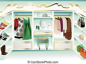 DRESSER ROOM - It is an illustration of the room