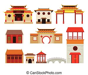 China Building Objects Set - Travel Attraction, History,...