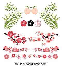 Plum Blossom and Bamboo Ornament - National Flower of the...