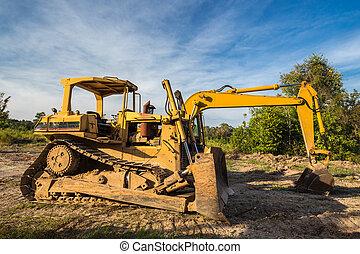Wheel loader Excavator with caterpillar backhoe