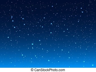 Night sky Stars in night sky Background illustration vector...