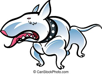 Bull terrier - Colorful illustration of the dog bull terrier
