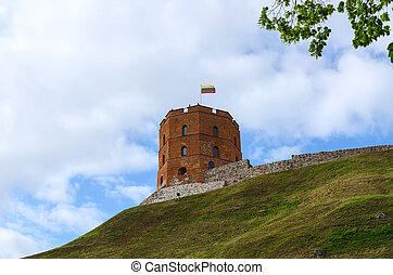 Tower of Gediminas, Vilnius, Lithuania - Gediminas Tower on...
