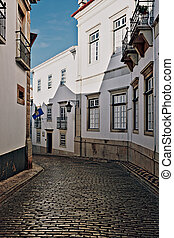 Faro - Narrow Street in the Medieval Portuguese City of...