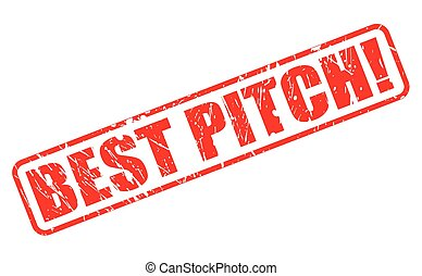 Best Pitch red stamp text on white