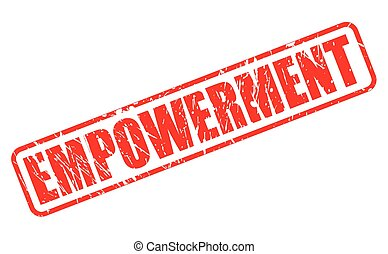 EMPOWERMENT red stamp text on white