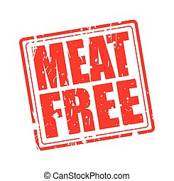 MEAT FREE red stamp text