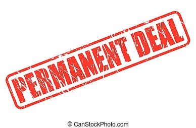 PERMANENT DEAL red stamp text on white