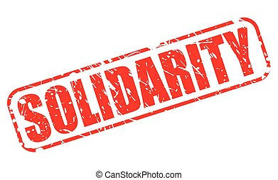 SOLIDARITY red stamp text on white