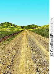 Golan Heights - Dirt Road in the Golan Heights, Early Spring...