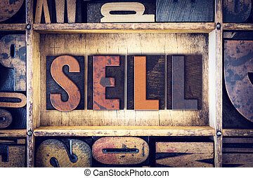 Sell Concept Letterpress Type