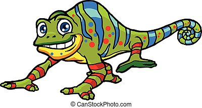 Chameleon - Vector Illustration of Chameleon Cartoon