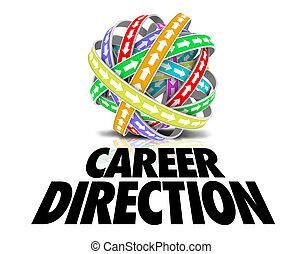 Career Direction Arrows Cycle Job Promotion Plan Advancement