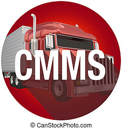 CMMS Truck Computerized Maintenance Management System Long Shadow Symbol