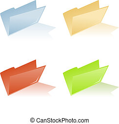 file folder with place for label