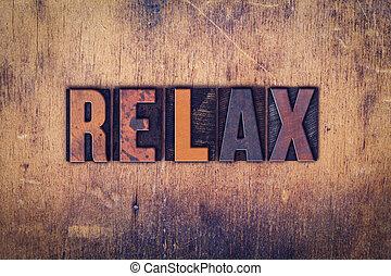 de madera, concepto, tipo, texto impreso, relajar
