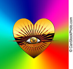 eye - A radiant eye with a heart